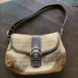 Coach With Leather Trim Soho Buckle Handbag Brown